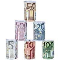 Preisvergleich für Bada Bing 6er Set Spardose Euro € Geldschein Mittel Reisekasse Sparschwein 94