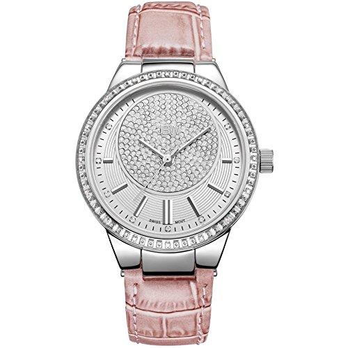 JBW Camille Reloj DE Mujer Diamante Cuarzo Suizo 38MM Correa DE Cuero J6345E