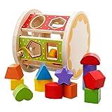 STOBOK Holz Steckwürfel Holzsteckbox Form Sortierer Motorikspiel Lernspielzeug Förderung Konzentration für Kinder