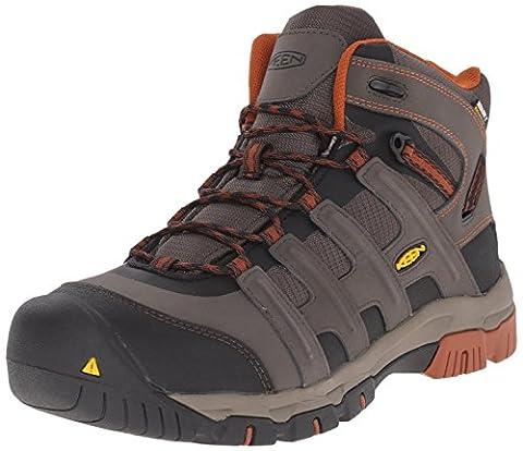 KEEN Utility Men's Omaha Mid WP Steel Toe Work Boot, Black Olive/Gingerbread, 12 D US