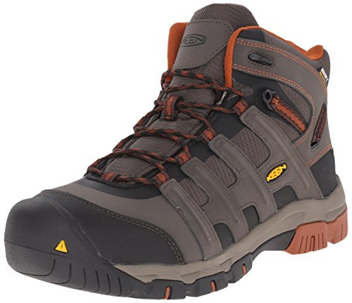 Keen Utility Men's Omaha Mid WP Steel Toe Work Boot, Black Olive/Gingerbread, 7 D US Usa Steel Toe Boots