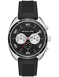 Michael Kors Men's Dane MK8611 Silver Silicone Japanese Chronograph Fashion Watch