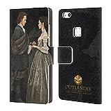 Head Case Designs Offizielle Outlander Claire & Jamie Gemälde Portraits Brieftasche Handyhülle aus Leder für Huawei P10 Lite