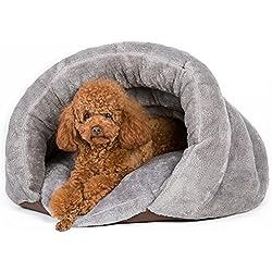 GossipBoy - Casa para mascotas con diseño triangular, saco de dormir, lavable, cómoda para acurrucarse, para gatitos excavadores, gatos, perros y cachorros - El refugio más cálido, acogedor y cómodo para tu animal