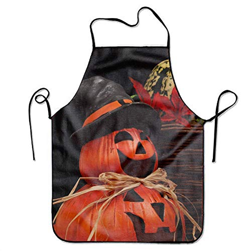 DSFDSFSDFRTRGF Scary Happy Halloween Premium Quality Aprons Adjustable Bib Apron for Home Overlock
