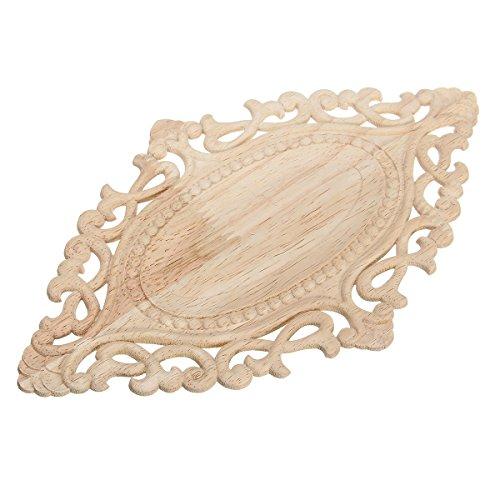 HELEISH Europäische Holzschnitzerei Applique Europäische Möbel Kabinett Tor Dekoration 25x15x0.5cm Zubehörwerkzeug -