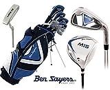 Ben Sayers M15 Golf Schläger Komplett-Set Golftasche Herren Neu Graphit Schläger Kopf Abdeckung + GRATIS Ben Sayers Golfschirm & Society Pack