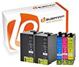 Bubprint 5 Druckerpatronen kompatibel für Epson T2701-04 T2711-14 27XL für Workforce WF-3620DWF WF-3620WF WF-3640DTWF WF-7110DTW WF-7610DWF BK C M Y