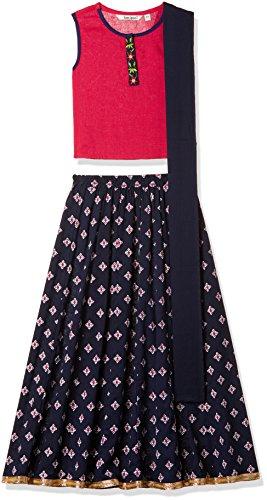 Karigari Girls' A Line Regular Fit Cotton Salwar Suit Set (272486323_PINK_05Y)
