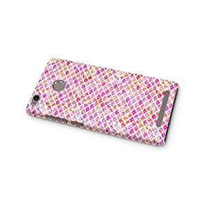 Cover Affair Fish Scales Printed Designer Slim Light Weight Back Cover Case for Xiaomi Redmi 3 (Pink)