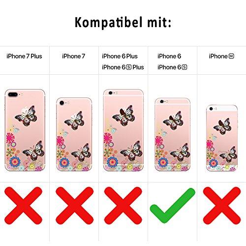 GIRLSCASES®   iPhone 6-6S Hülle   Mit coolen Spruch Aufdruck Motiv   Smile   Case transparente Schutzhülle   Farbe: weiß   love - weiß