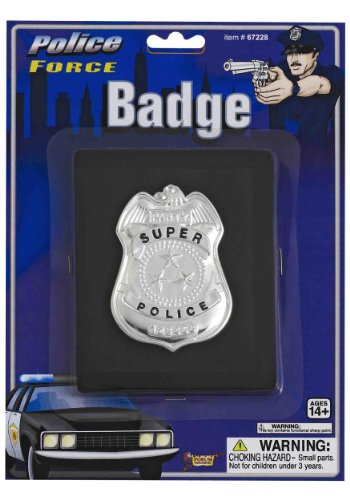 Police badge Halloween size of Police Badge on Wallet wallet: One-Size (japan import) (Silber Police Badge)