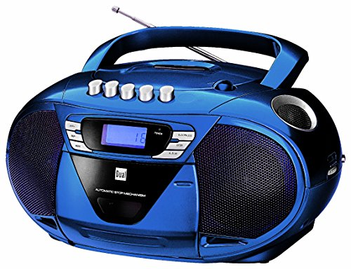 Dual P 68-1 Blau Portable Boombox (CD-Player (MP3), Kassettenabspieler, UKW/MW-Tuner, AUX-In)