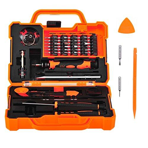 Handy elektronik set,  45 in 1 mit Reparatur Werkzeug set für Handy smartphone wie Apple iPhone 7 6s 6 5s 5 und Samsung s5, Tablet, PC, Laptop, Uhr, Kamera, Brille