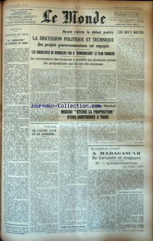 MONDE (LE) [No 747] du 22/06/1947 - LA LIBERATION ...