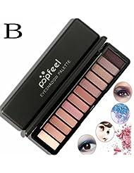 Tefamore 12 couleurs femme cosmétiques matte ombre à paupières crème maquillage palette shimmer
