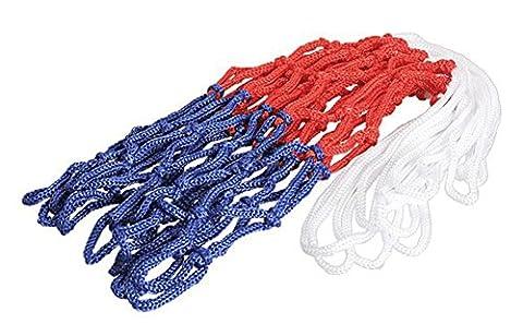 SaySure - thick 5mm Red White Blue Basketball Net Nylon Hoop Goal