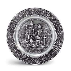 Artina 10084 Neuschwanstein Assiette décorative avec motif du château de Neuschwanstein