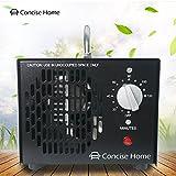 Concise Home Generatore Commerciale di Ozono 3500mg Deodorante Nero Sterilizzatore Industriale O3 per Purificatore d'aria