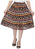 COTTON BREEZE Women's A-line Skirt (Multi-Coloured)