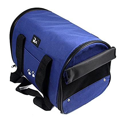 Nestling® Blue Oxford Cloth Pet Carrier Bag Dog Cat Bag Foldable Pet Travel Carrier Ideal for Puppy, Cat, Rabbit and… 2