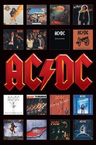 1art1 GmbH AC/DC, Le copertine degli album, Maxi poster, 61 cm x 91.5 cm