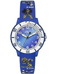 s.Oliver Jungen-Armbanduhr Analog Quarz Silikon SO-3177-PQ