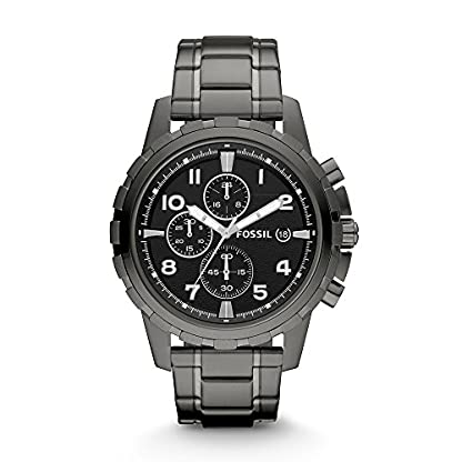 Fossil Dean Chronograph Black Dial Men's Watch – FS4721