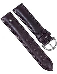 Maurice Lacroix Galant Marken Uhrenarmband Kalbsleder matt dunkelbraun 20mm 22499S