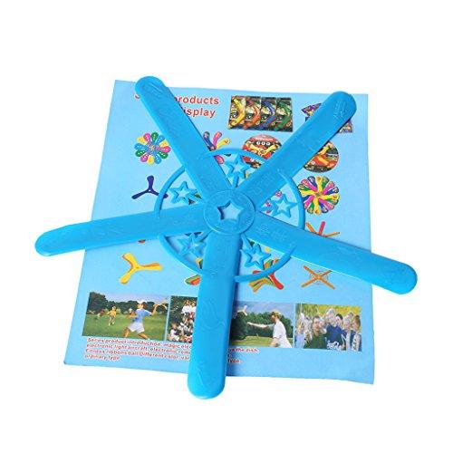 Jiamins 1pc Boomerang Funpark-Spielzeug Für Fünf Blätter, Sport-Park-Wurf-spezielles Flugspielzeug