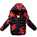 AMYMGLL Manteau pour enfants hiver nouveaux enfants doudoune garçons et filles veste enfants manteau épais manteau rouge , black and red , 100cm