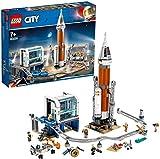 LEGO City 60228 Space Port  Razzo Spaziale e Centro di Controllo, Ispirato alle Vere Missioni della NASA, Set di Costruzioni per Ragazzi +7 e Collezionisti