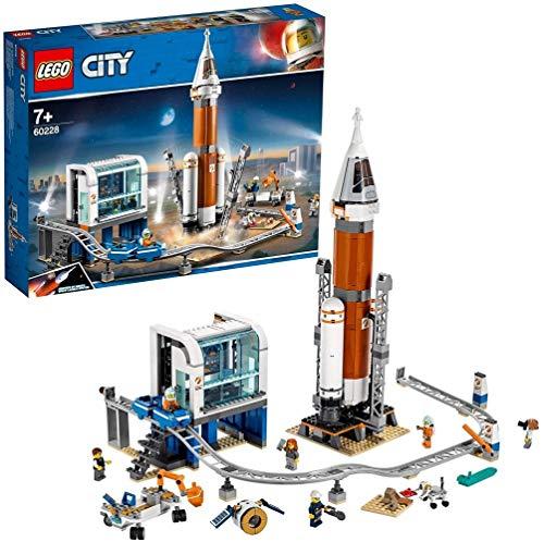 LEGO 60228 - City Weltraumrakete mit Kontrollzentrum, Bauset (Kunststoff-modell Boote)