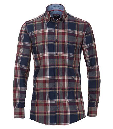 Dobby-hemd (CASAMODA Herren Dobby Hemd kariert Comfort Fit)