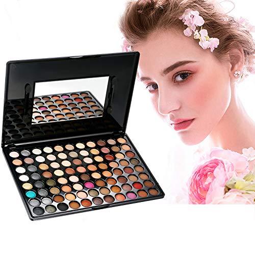 Vtrem Lidschatten Palette, 88 Farben Matt Glitzer Naked Make-up Augen Natürlich Kosmetik -