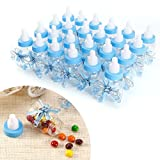 Baby Shower Party Favours Decoration Candy Filling Bottles 9 x 4cm Pack of 24 Pink Blue (Style: #1, Blue)