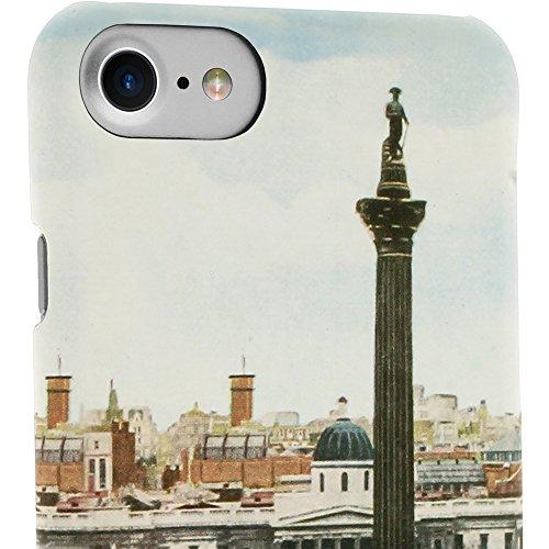 """igadgitz Druck Hart PC Etui Tasche Schutzhülle für Apple iPhone 7 & 8 4.7"""" Case Cover - Vintage Trafalgar Square von Hand gefärbte Postkarte 1950er (National Gallery) Vintage Trafalgar Square"""