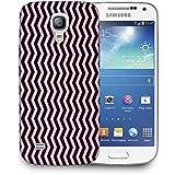 Snoogg oscuro y tiras de color de la luz Funda Carcasa de diseño para Samsung Galaxy S4Mini i9190
