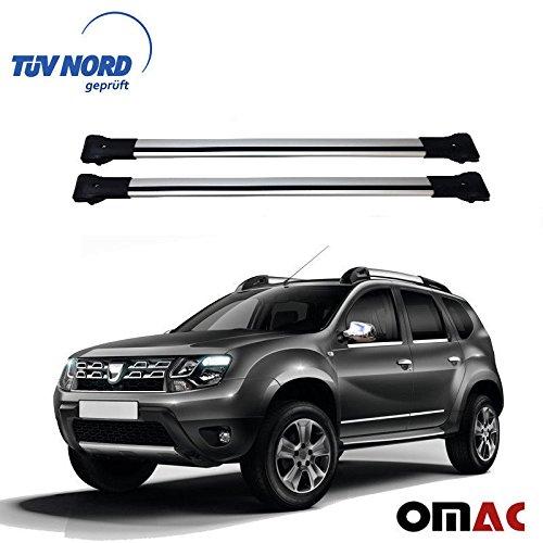 OMAC GmbH DACIA DUSTER Portapacchi Grigio in alluminio con certificato TÜV Abe AB Facelift 2014-2017
