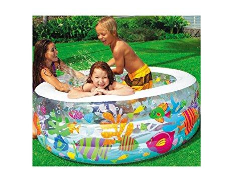 aß Schwimmbad für Kleinkinder Pool Planschbecken Kinderpool Babypool Baby Pool Schwimmingpool Kinderplanschbeckenn Aquarium Pool, 152 cm Ø, Höhe 56 cm / aufblasbarer Boden , ideal für den Garten , Terrasse , Urlaub , Camping der ideale Wasserspass und Abkühlung an heissen Tagen ()