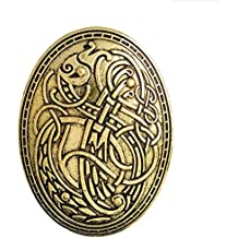 VEA-DE Botones y distintivos Vikingo Lobo Patrón Broches Insignia de botón  para la Ropa c78fd2306083