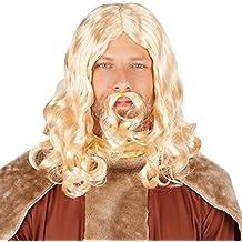 dressforfun Peluca de hombre Vikingo rubio | Completa hábilmente su disfraz de vikingo | Genial peluca
