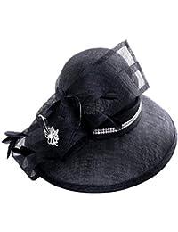 Aszhdfihas Cappello da Spiaggia Cappelli per Banchetti Estivi Cappellino  Nero a Falda Larga per Cappello da ebd7bf377f09
