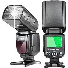 Neewer E-TTL LCD Display Flash Speedlite maestro/esclavo para cámaras réflex digitales para Canon, Como 7D Mark II, 5D Mark II III IV, 1300D 1200D, 750D, 700D, 600D, 80D, 70D, 60D (NW-562)