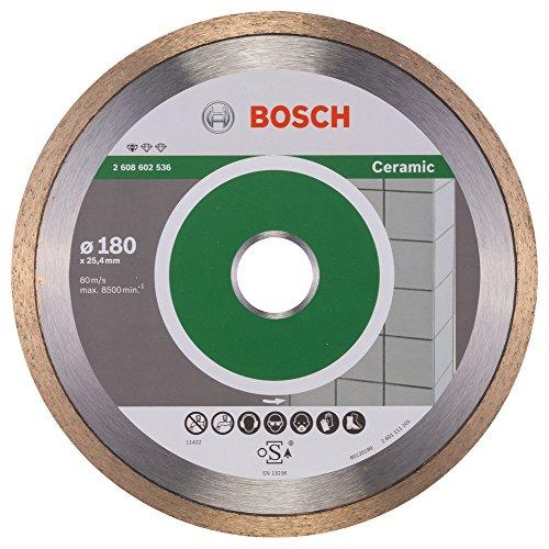 Bosch Professional Diamanttrennscheibe Standard für Ceramic, 180 x 25,40 x 1,6 x 7 mm, 2608602536 -