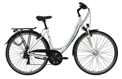 Damen Fahrrad 28 Zoll - Pegasus Piazza - 21 Gänge Kettenschaltung Tiefeinstieg Trekkingrad - weiss