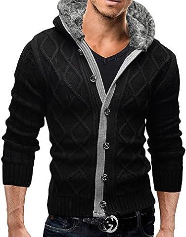 MERISH Strickjacke Warme Jacke Pullover Strickpullover 28 Anthrazit