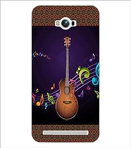 PrintDhaba Guitar D-3183 Back Case Cover for ASUS ZENFONE MAX ZC550KL (2016) (Multi-Coloured)