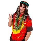 Deko Hanf Kette Hippie Kostüm Rasta Reggae Hanfkette Cannabis Scherzartikel Rastafarie Karneval Fasching