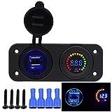 Samoleus 3PIN 6 LED Wippenschalter Panel Kippschalter Panel Schalter Boot für Auto Boot Marine Motorrad (6 LED Schalter)